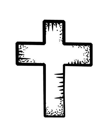 cross doodle Vector Illustration