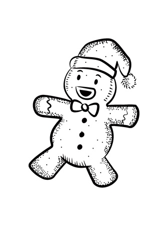 galleta de jengibre: Juguetes de Navidad Vectores