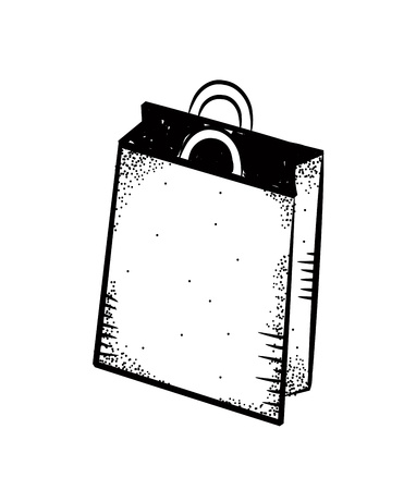 a bag with gifts: shopping bag doodle Illustration