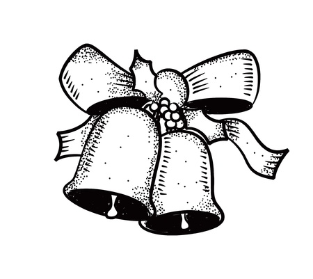 christmas bell: christmas bell with bow