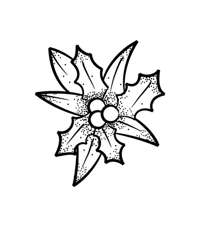 holy berry doodle Vector