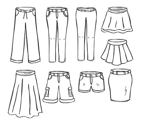 long skirt: set of pant and skirt