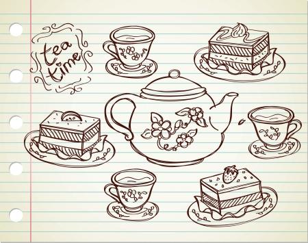tearoom: tea time Illustration