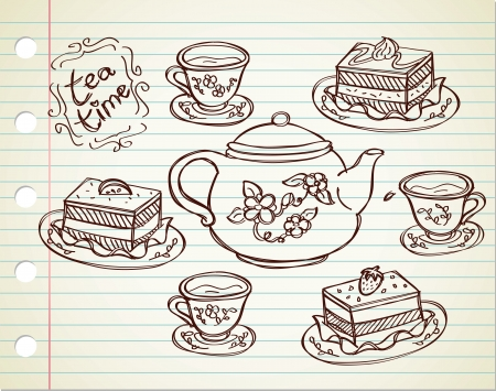 fancy pastry: tea time Illustration