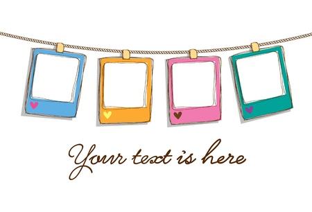 geburtstag rahmen: Satz von cute frame doodle