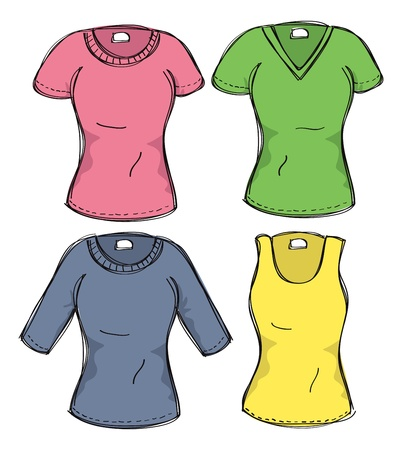 shirt sleeves: set of female clothing