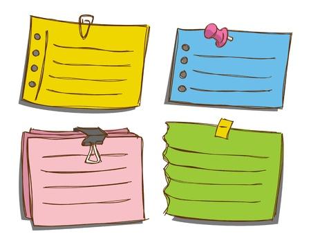 carta da lettere: Set di carta da lettere colorate Vettoriali