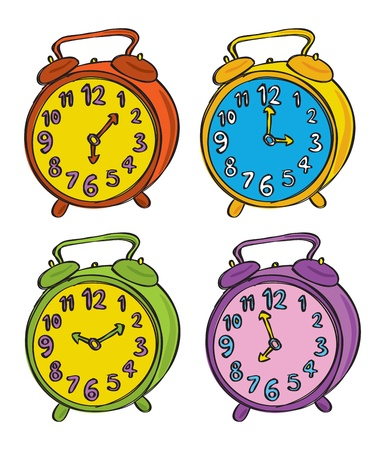 Set of clock in various color Stock Vector - 14799432