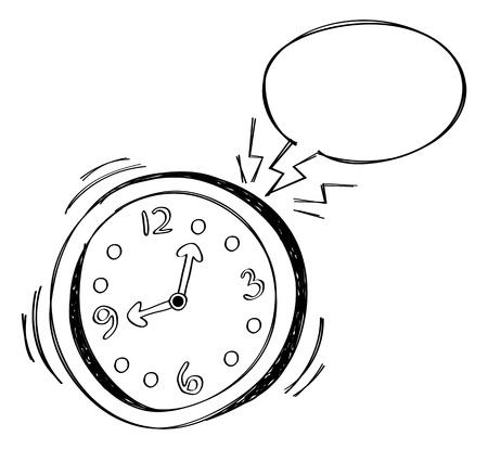 alarm clock with bubble speech Stock Vector - 14957128
