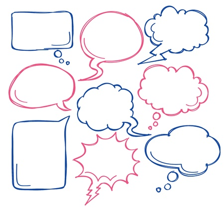 komische bubbel spraak Vector Illustratie