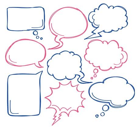 speech bubble comique Vecteurs