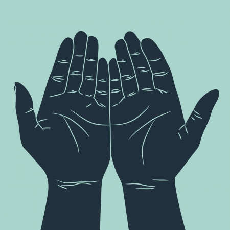 body language: human hand with various gestures