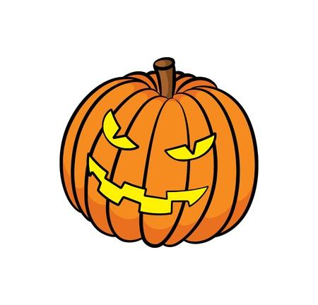 scary face: Halloween pumpkin Illustration