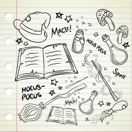 elixir: Cosas Magic en estilo garabato