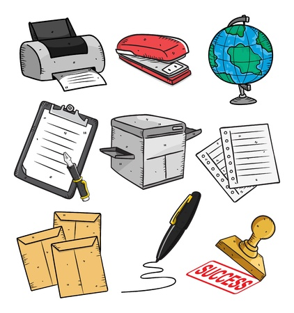 staplers: office equipment Illustration