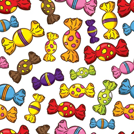 candy background: Colorful candy seamless pattern Illustration