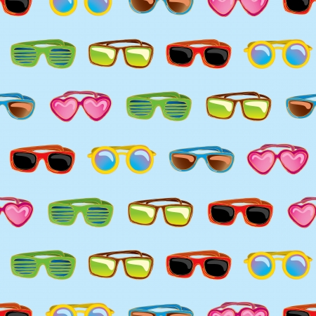 Retro sunglasses pattern Vector