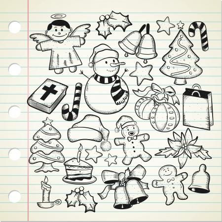 big set og Christmas doodle Stock Vector - 15115321