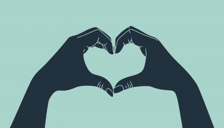 hand making heart sign Vector