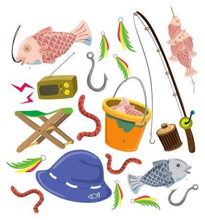 fishing hook: set di roba da pesca colorate