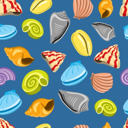 aquatic: sea shells background