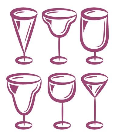 various glass set Stock Vector - 15375360