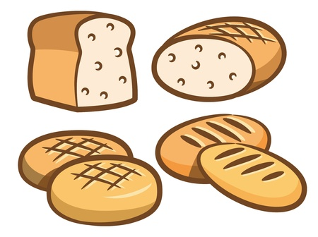 toasted bread: set of bread icon