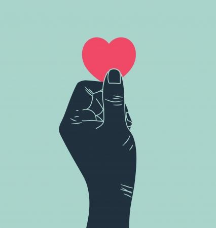 clip art draw: hand giving love symbol