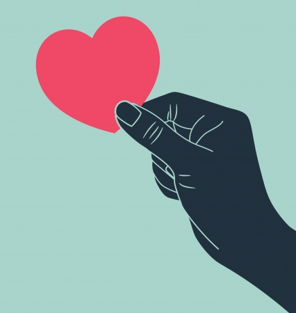 love icons: hand giving love symbol