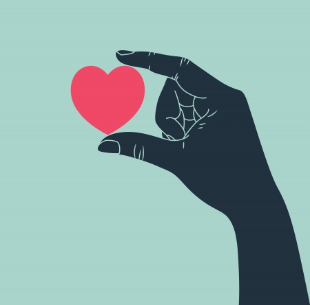 hand giving love symbol Vector