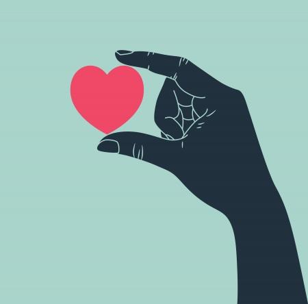 happiness: mano que da símbolo del amor