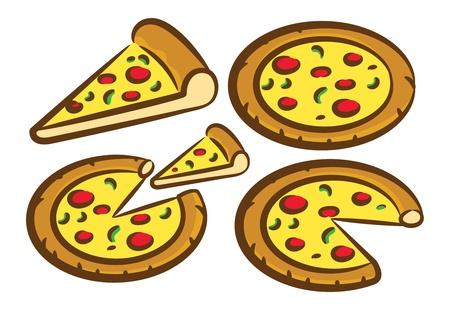 delicious pizza set Stock Vector - 15746469