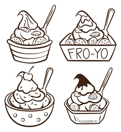 frozen yogurt Illustration