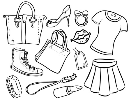 female stuff Vector