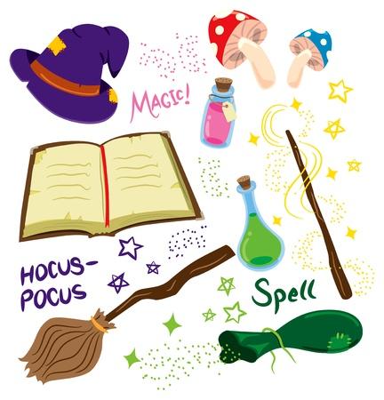 coisa: cartoon set magia Ilustra��o