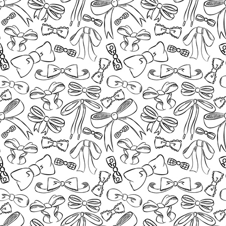 the trappings: ribbon seamless pattern Illustration