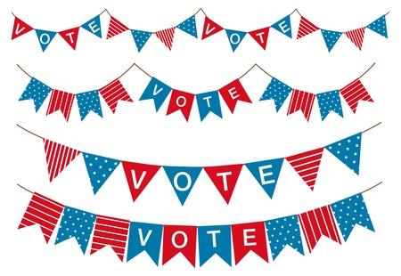 election garland  Illustration
