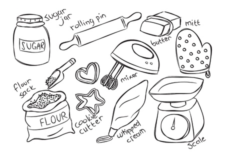 baking stuff Vector