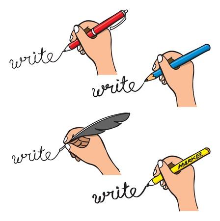 cartoon pen: handwriting