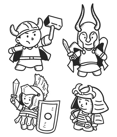 samurai warrior: warrior doodle