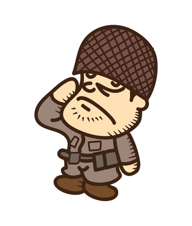 guardsman: soldier cartoon Illustration