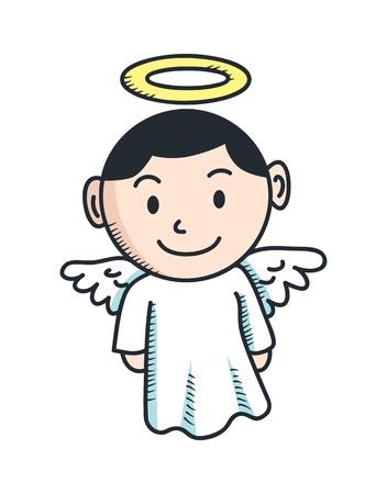 christmas prayer: cute angel cartoon