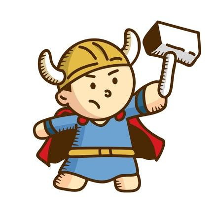 dessin animé guerrier viking