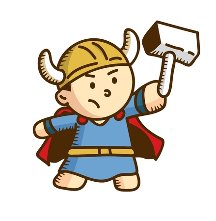 vikingo: dibujos animados guerrero vikingo
