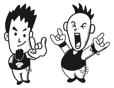 little punk rocker Vector