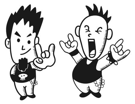 criminal activity: little punk rocker Illustration