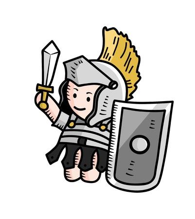 pillage: roman soldier Illustration