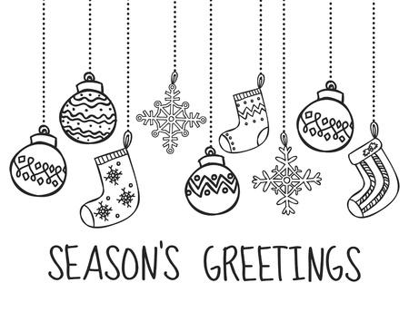 christmas deer: Christmas card