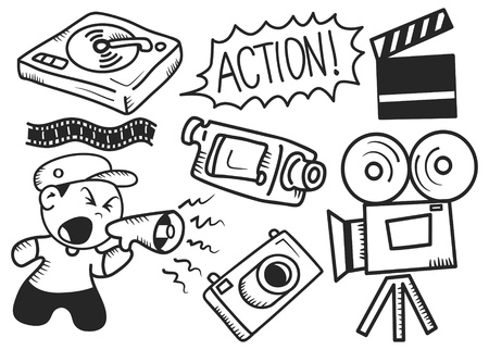 producer: Film industry doodle