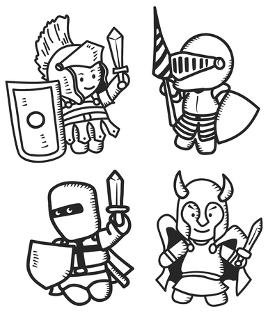 set of ancient warrior